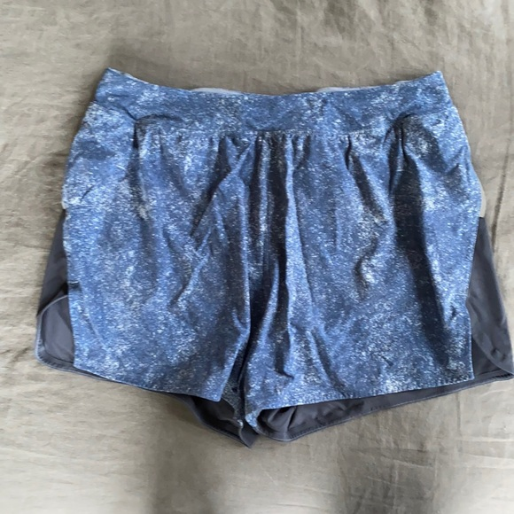 """Men's OV 4"""" blue lightspeed short w/ liner!"""